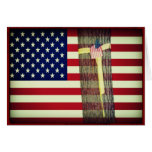 American Flag/Yellow Ribbon Military Note Card