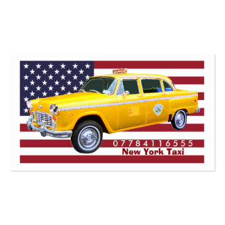 American Flag Yellow Taxi Cab Pack Of Standard Business Cards