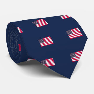 American Flag (Your Text) Tie