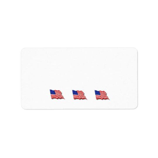 American Flags Address Label