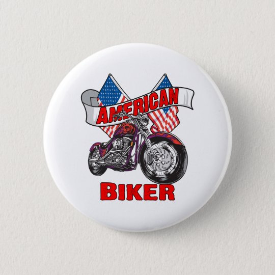 American Flags Biker 6 Cm Round Badge