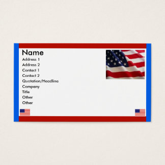 American Flags Business Card
