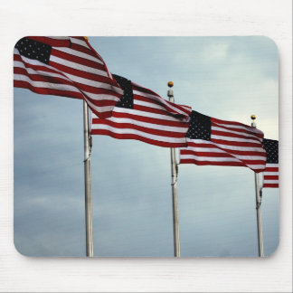 American Flags Flag Stars Stripe Independence July Mouse Pad