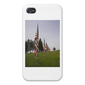 American flags in a row cover for iPhone 4