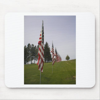 American flags in a row mouse pad