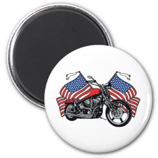 American Flags Motorcycle Magnet