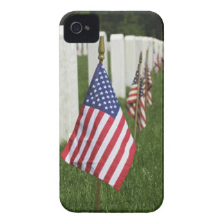 American flags on tombs of American Veterans on 2 iPhone 4 Case-Mate Cases