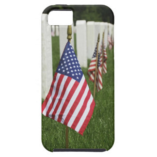 American flags on tombs of American Veterans on 2 iPhone 5 Case