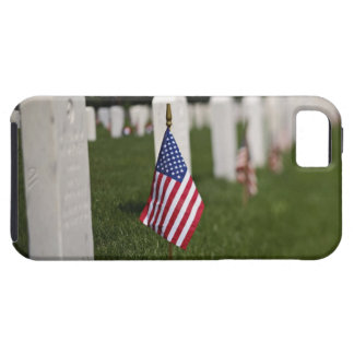 American flags on tombs of American Veterans on iPhone 5 Covers