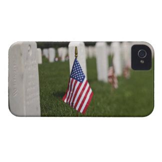 American flags on tombs of American Veterans on iPhone 4 Cover