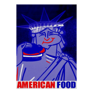 """American Food"" By Urban59 ArtWorks Studio NYC Poster"