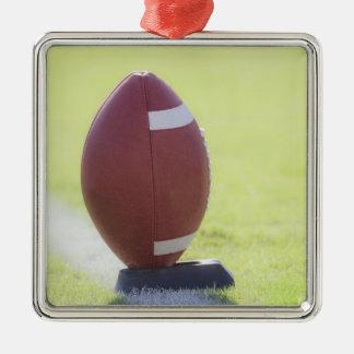 American Football 6 Silver-Colored Square Decoration