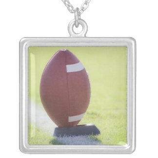 American Football 6 Square Pendant Necklace