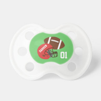 American Football and Red Helmet Baby Boy Pacifier
