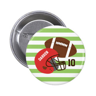 American Football and Red Helmet Pin