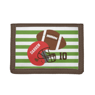 American Football and Red Helmet Wallets