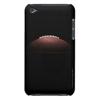 American football ball on black background barely there iPod covers
