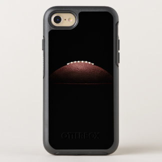American football ball on black background OtterBox symmetry iPhone 8/7 case