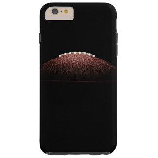 American football ball on black background tough iPhone 6 plus case