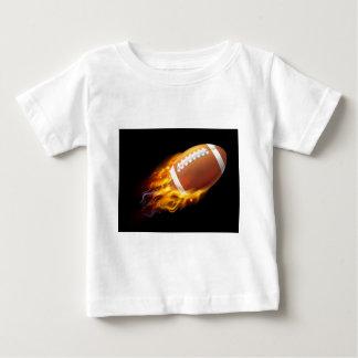 American Football Ball on Fire Baby T-Shirt