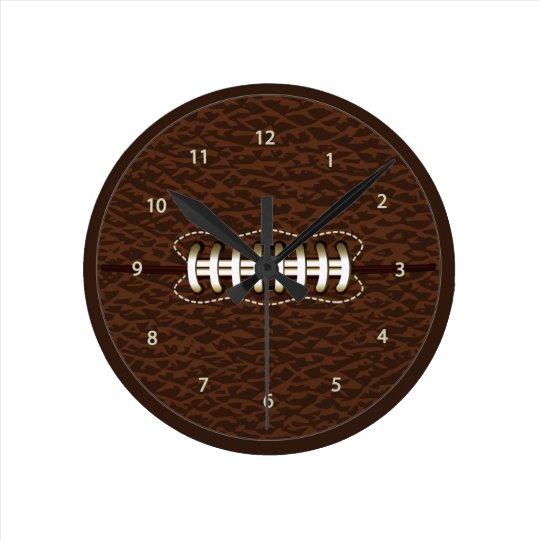 American Football Ball Wall Clock