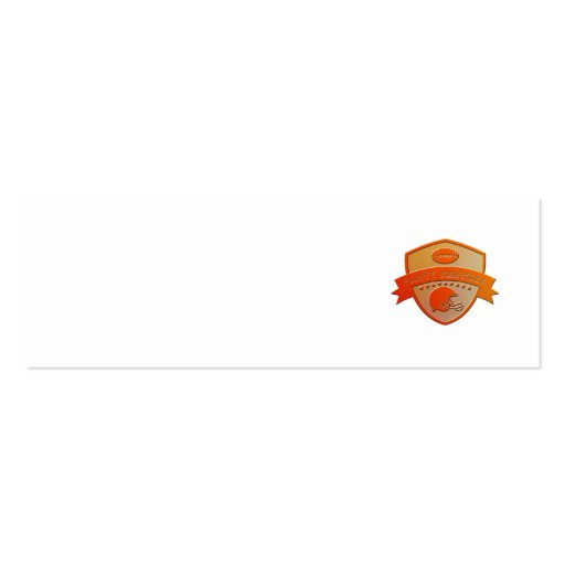american football champions shield business card