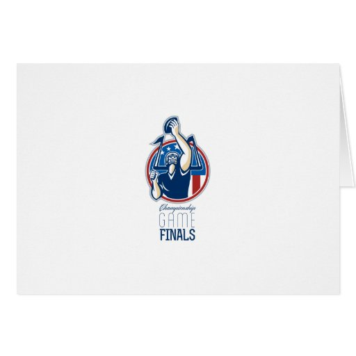 American Football Championship Game Finals Greeting Card