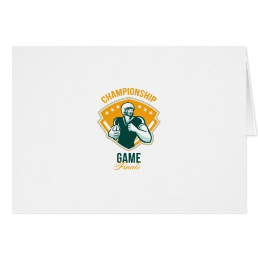 American Football Championship Game Finals Crest Greeting Card