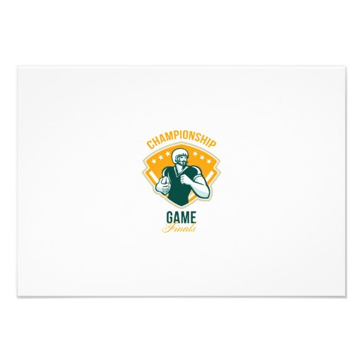American Football Championship Game Finals Crest Personalised Invitations