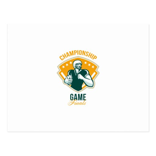 American Football Championship Game Finals Crest Post Cards