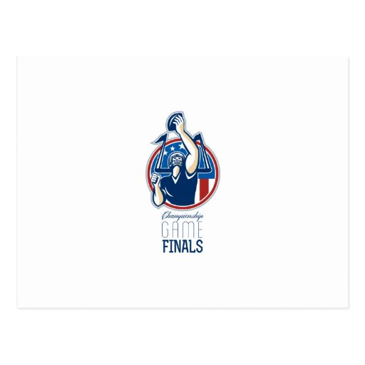 American Football Championship Game Finals Postcards