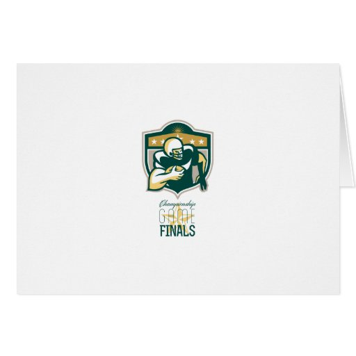 American Football Championship Game Finals QB Greeting Cards