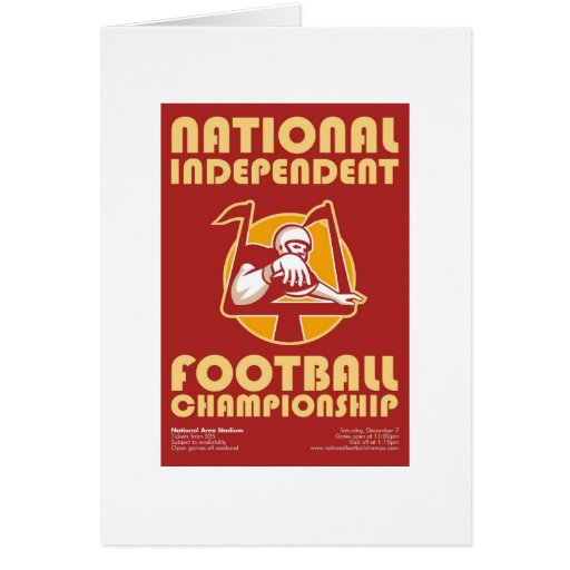 American Football Championship Poster Art Greeting Cards