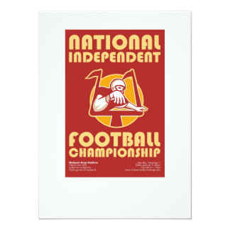 American Football Championship Poster Art Invitation