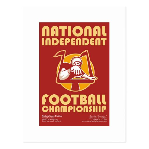 American Football Championship Poster Art Post Card