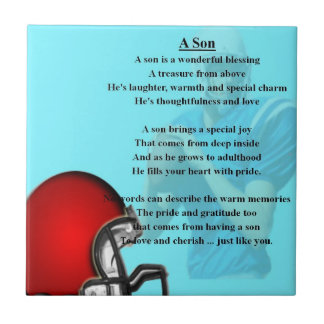 American Football Design Tile - Son poem