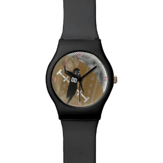 American Football Design W Customizable Number Wrist Watch