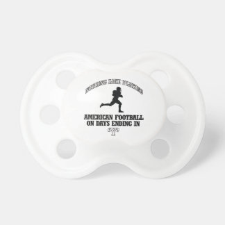 american football designs baby pacifier