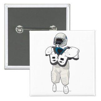 American football gear 15 cm square badge
