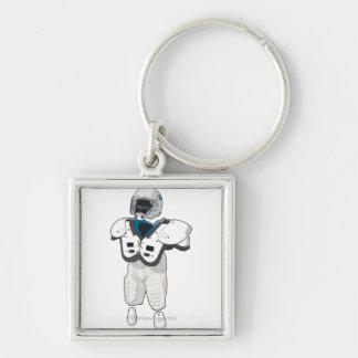 American football gear key chain