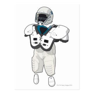 American football gear postcard