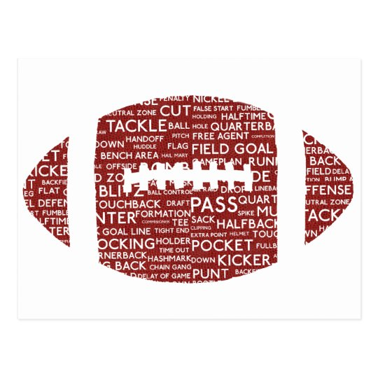 american football gifts postcard