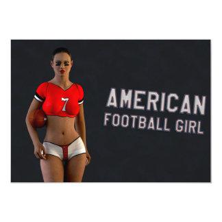 American Football Girl Chablis 13 Cm X 18 Cm Invitation Card
