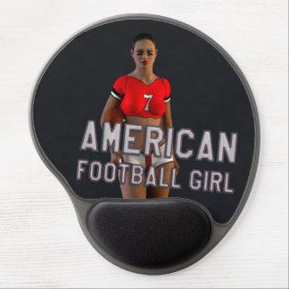 American Football Girl Chablis Gel Mouse Pad