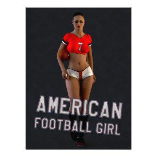 American Football Girl Chablis Custom Announcement