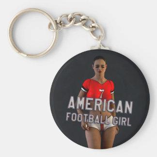 American Football Girl Chablis Keychains