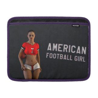 American Football Girl Chablis MacBook Air Sleeves