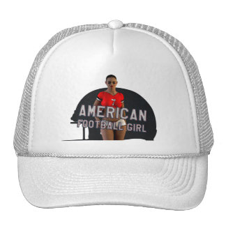 American Football Girl Chablis Mesh Hat