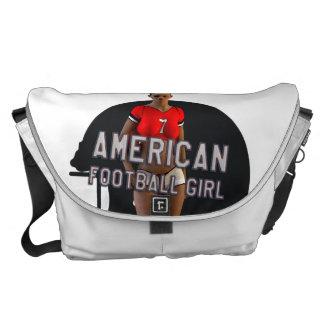 American Football Girl Chablis Messenger Bags