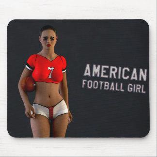 American Football Girl Chablis Mouse Pads